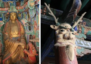 горы, Даосизм, Китай, священные горы, Хэншань, Шаньси, Бэйюэмяо, Сюанькун-сы